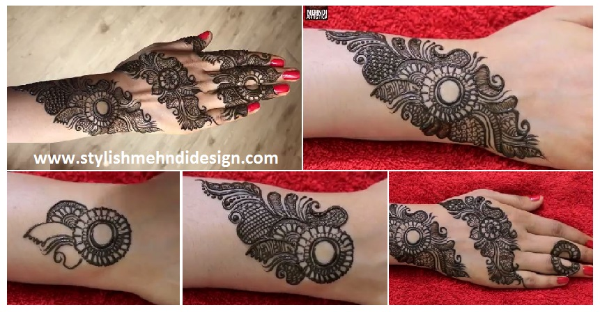 Mehndi Step By Step Designs : Attractive henna mehndi design for hand step by artsycraftsydad