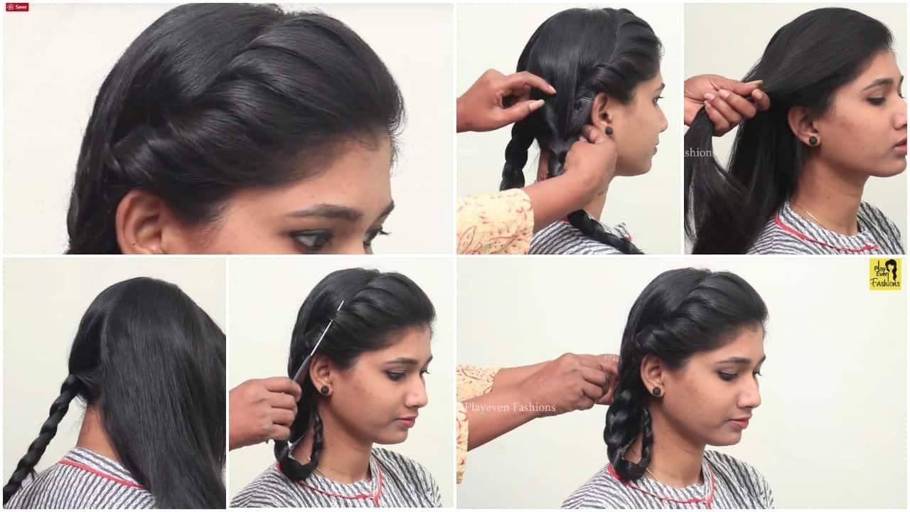 Easy Quick Braided Hairstyle for School Girls - ArtsyCraftsyDad