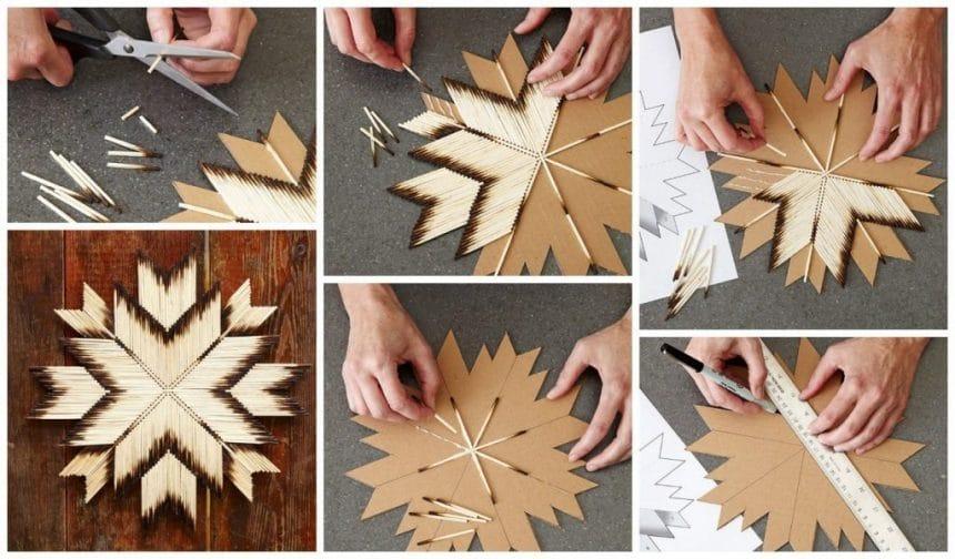 How To Make Matchsticks Star Wall Art Matchstick Craft Ideas For Kids