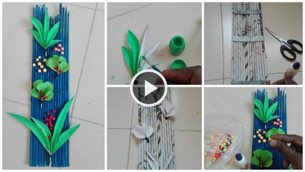 How to Make Newspaper Wall Decor Art - ArtsyCraftsyDad
