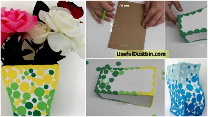 How To Make A Vase From Waste Cardboard Archives Artsycraftsydad