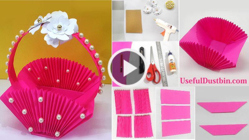 How To Make Accordion Diy Paper Basket Artsycraftsydad
