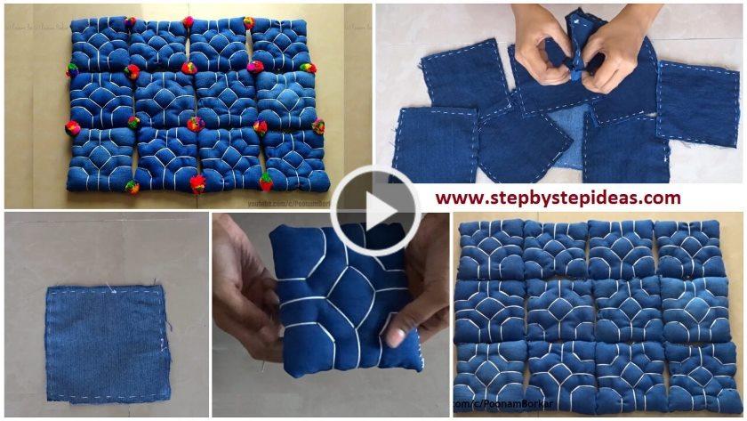 rug out of jeans Archives - ArtsyCraftsyDad