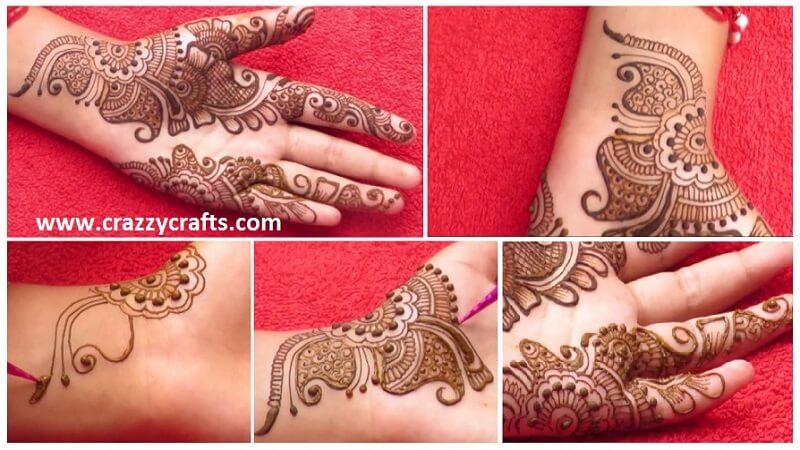 Simple Arabic Mehndi Designs For Left Hand Arabic Mehndi