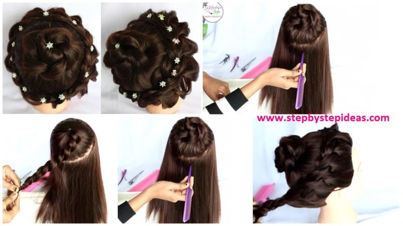 Bridal Bun Updo Hairstyle For Medium Long Hair Tutorial