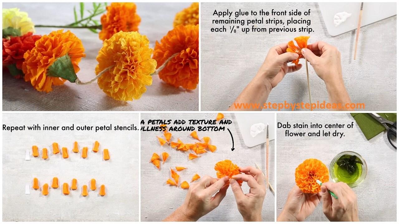 How To Make Marigold Paper Flowers Artsycraftsydad