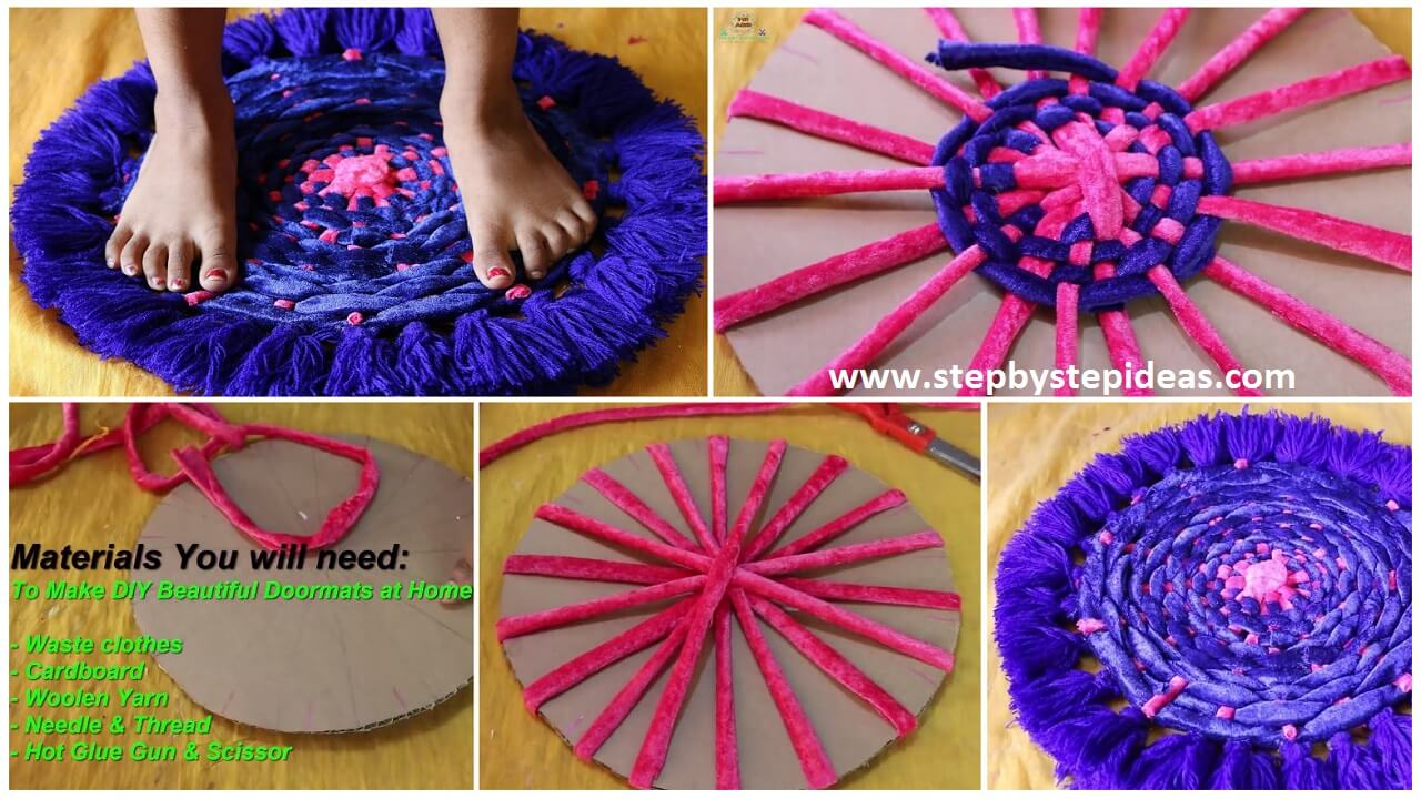 How To Make A Doormat With Old Clothes Artsycraftsydad