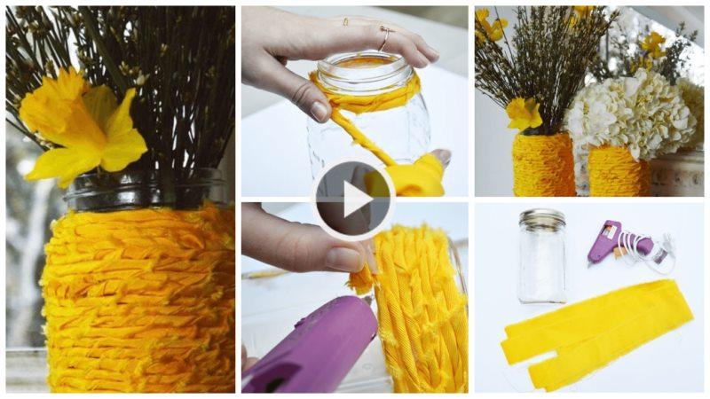 How To Make A Vase Wrapped In Fabric Bundle Artsycraftsydad
