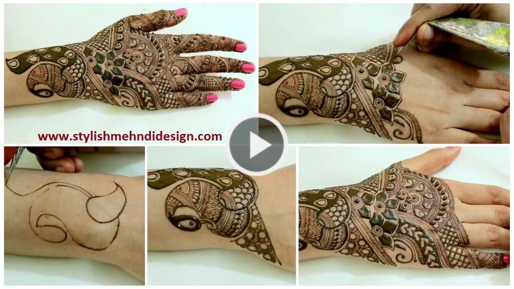 Dulhan Mehndi Design Book : Easy dulhan bridal mehndi design step by tutorial