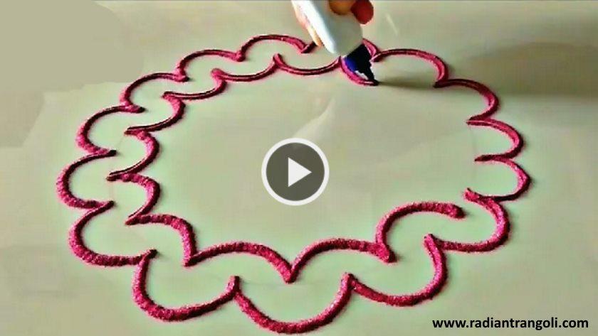 Easy rangoli designs to make at home