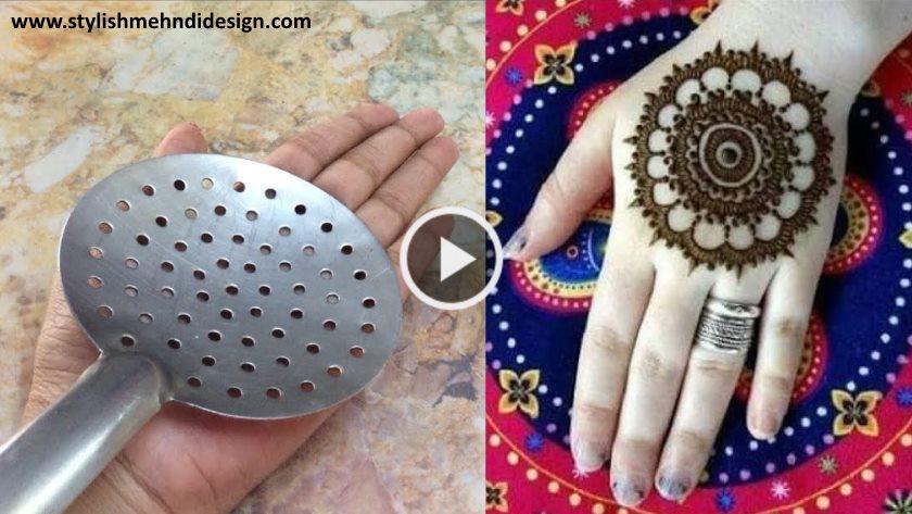 new mandala mehndi design with dots