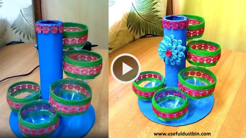 Plastic Bottle Craft Organizer