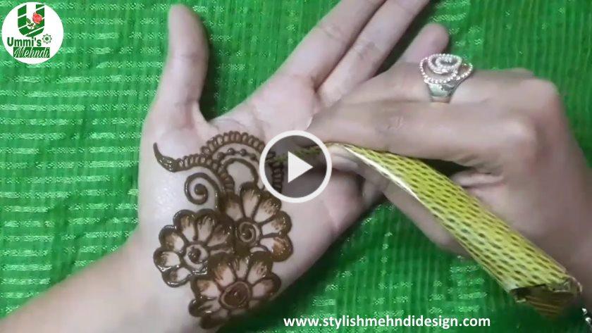 Simple Mehndi Design For Front Hand Artsycraftsydad