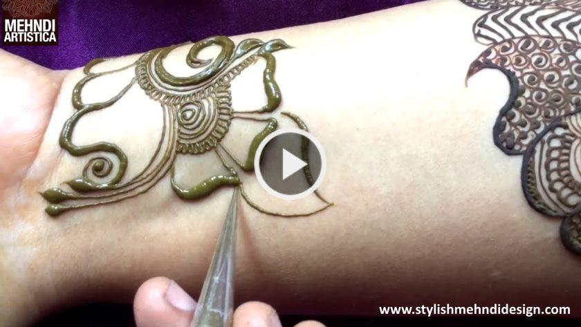 Stylish Arabian Henna Mehandi Design - ArtsyCraftsyDad
