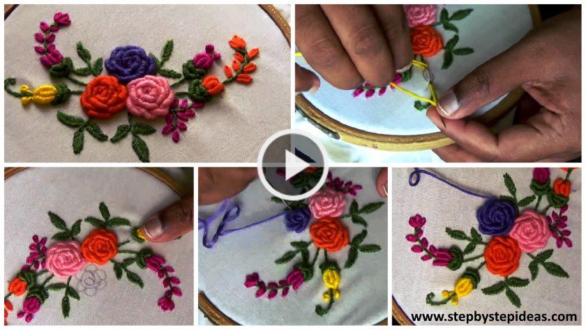 Hand embroidery neck designs step by artsycraftsydad